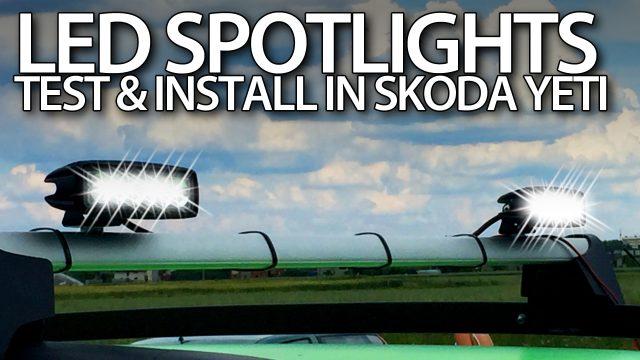 18W offroad LED spot lights offroad Skoda Yeti install