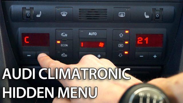 Audi A6 C5 Climatronic hidden menu