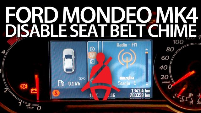 Disable seat belt chime Ford Mondeo MK4