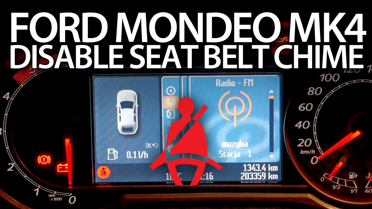 Disable seat belt chime Ford Mondeo MK4 - mr-fix info