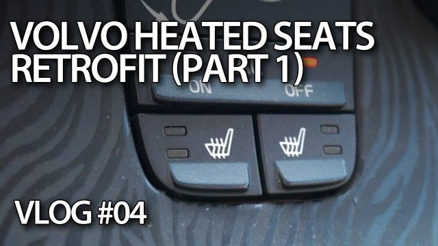 VLOG - Retrofitting heated seats in Volvo C30 S40 V50 C70 part1