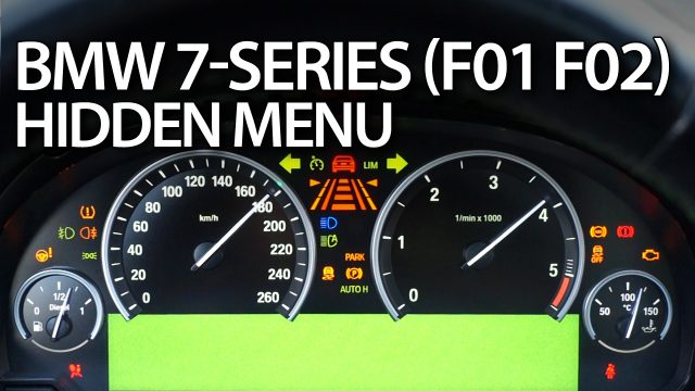 BMW F01 F02 hidden menu diagnostic mode