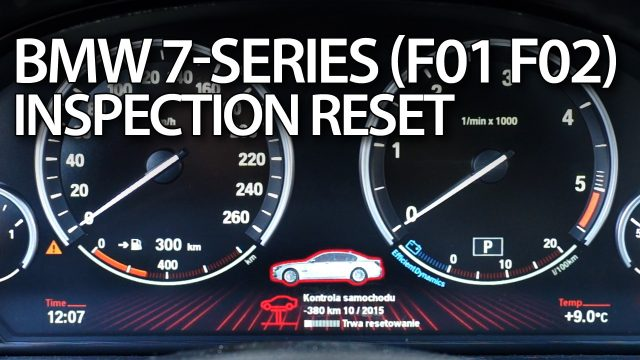 BMW F01 F02 service reset (7-series inspection)