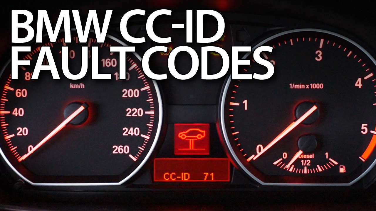 BMW CC-ID codes fault and warning messages - mr-fix info