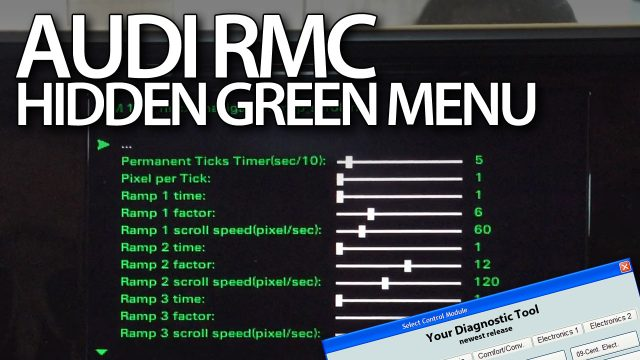 Audi RMC hidden green menu