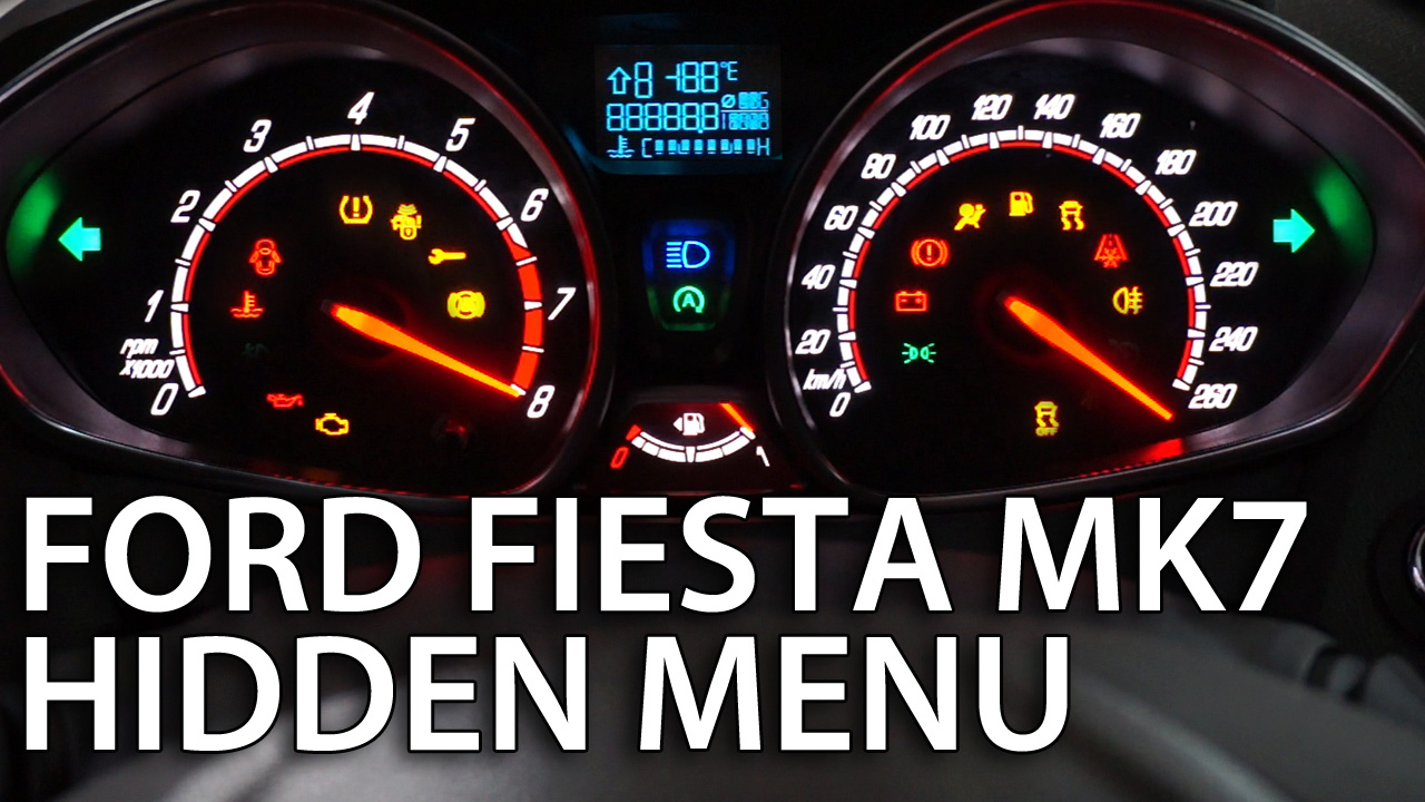 Ford Fiesta Mk7 Disable Seat Belt Chime Fuse Box Hidden Menu Test Mode