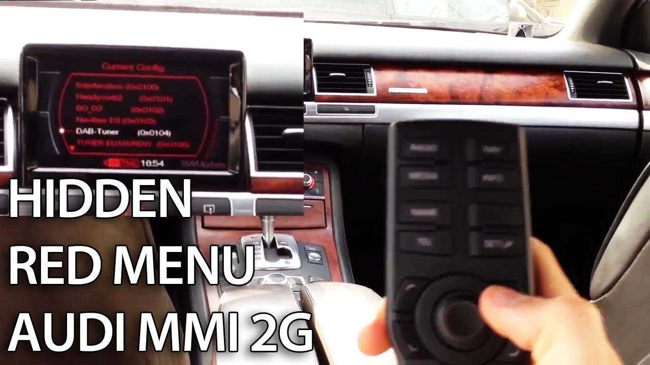Audi Multi Media Interface Mmi 2g Tutorials 2009 Q7 Wiring Diagram Hidden Red Menu Description